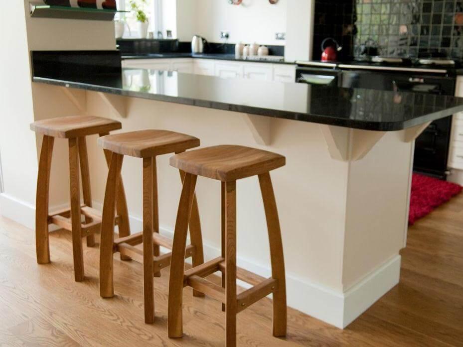 Деревянный барные стулья