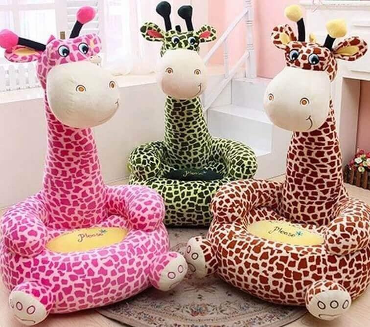 Детское кресло игрушка в форме жирафа