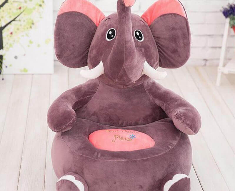 Детское кресло игрушка в форме слона