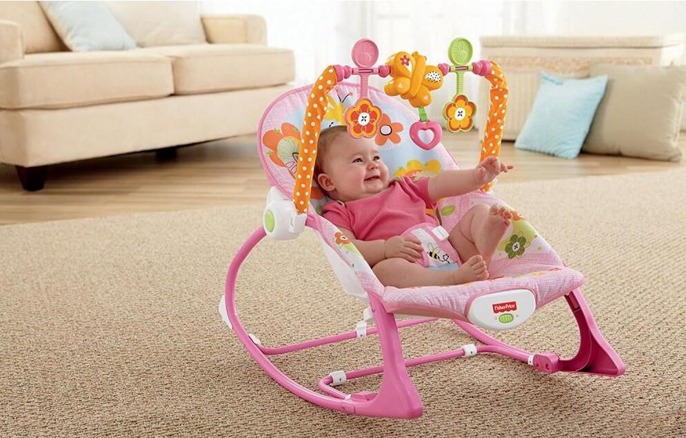 Детское кресло шезлонг для девочки