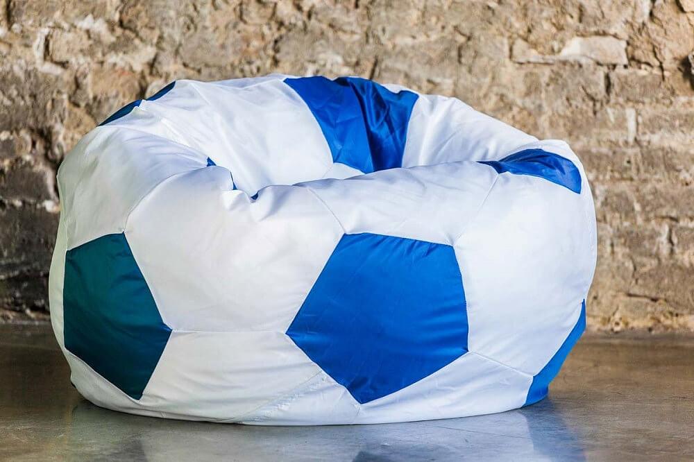 Детское кресло мешок в форме футбольного мяча