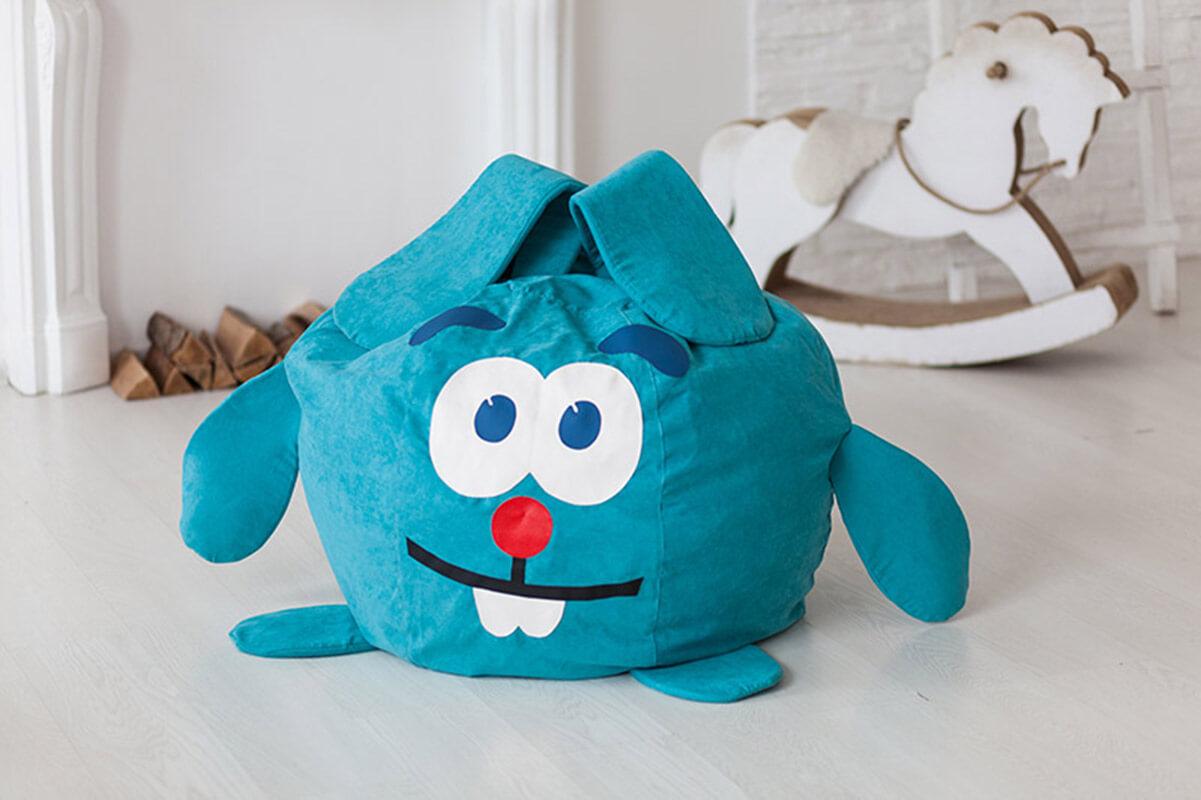 Детское кресло мешок в форме зайца