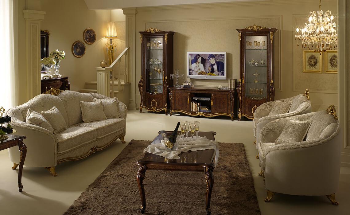 Фото классических кресел в гостинной