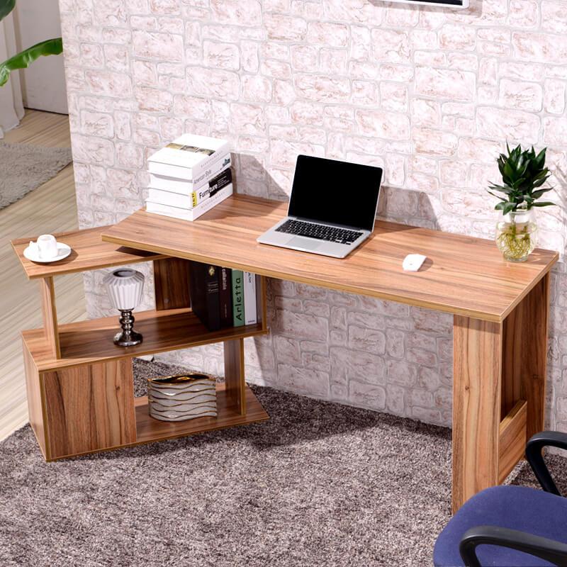 Фото углового компьютерного стола из массива