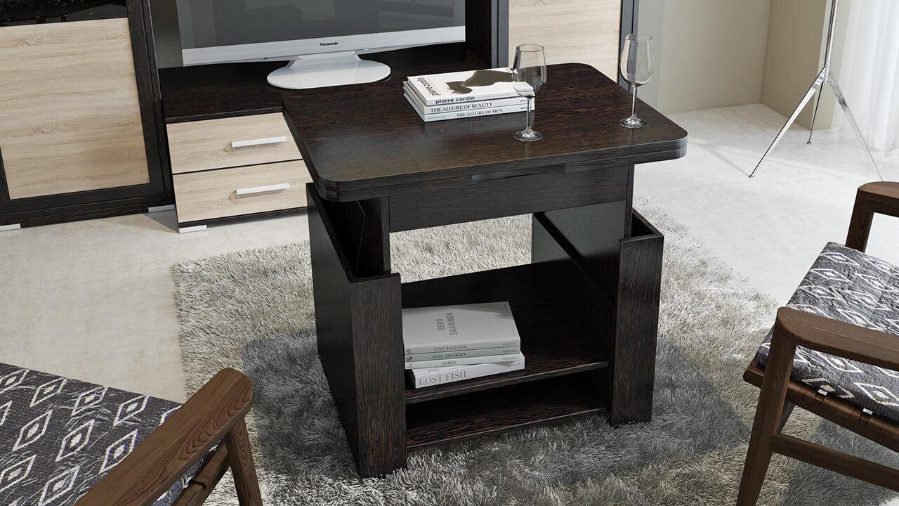 Журнальный стол трансформер с подъемной столешницей