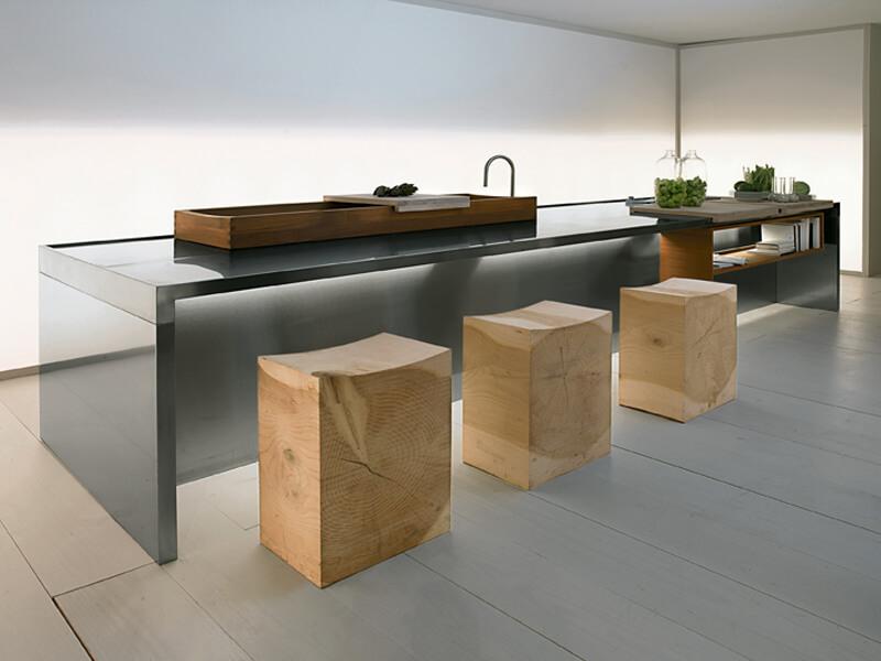 стильные кухонные табуреты из натурального дерева