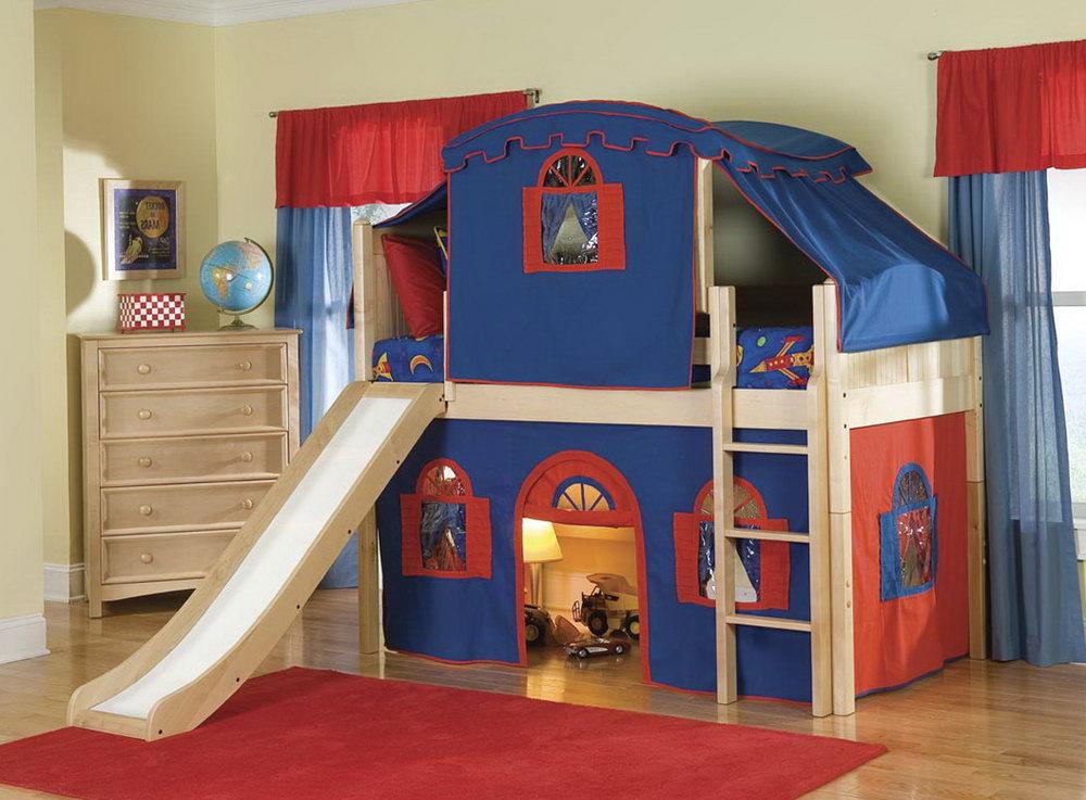 kids bunk bed slide