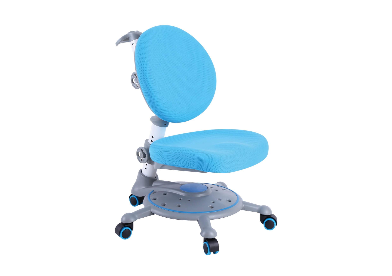 Голубое ортопедическое кресло для детей
