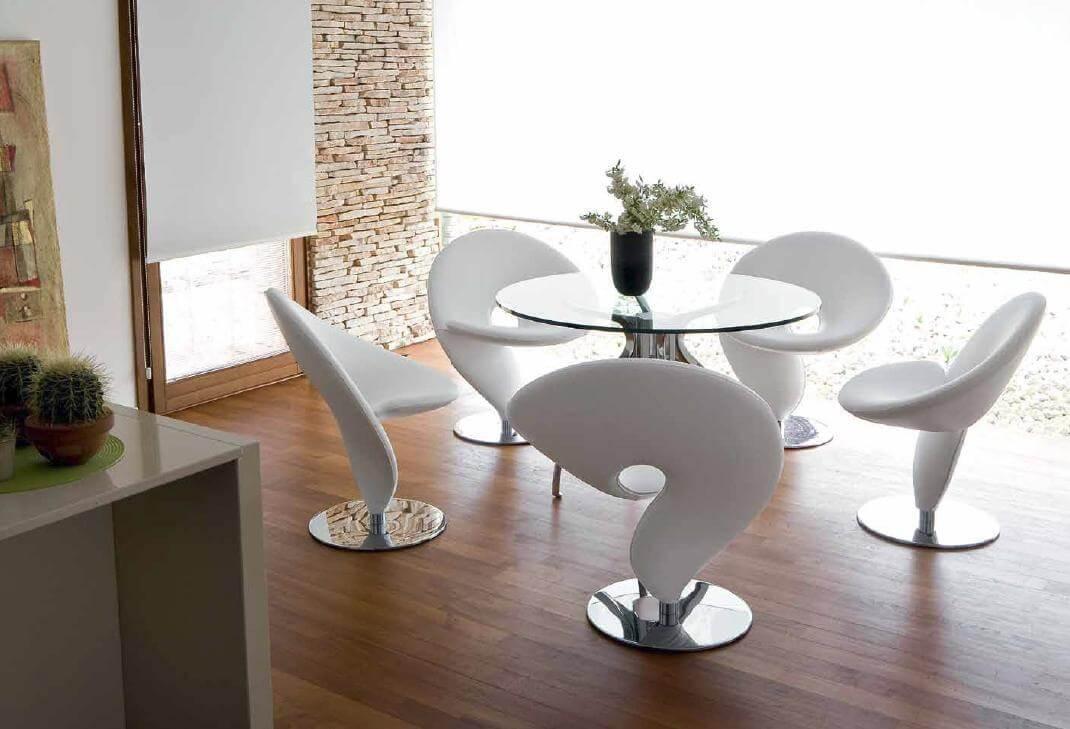 дизайнерские кухонные стулья необычной формы