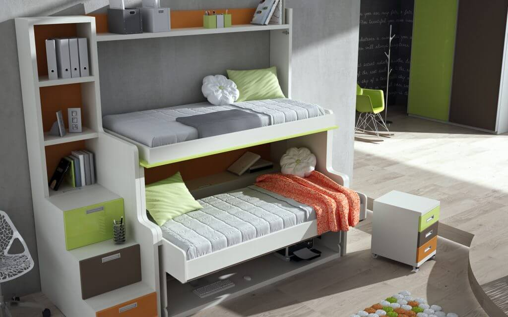 двухъярусная шкаф кровать