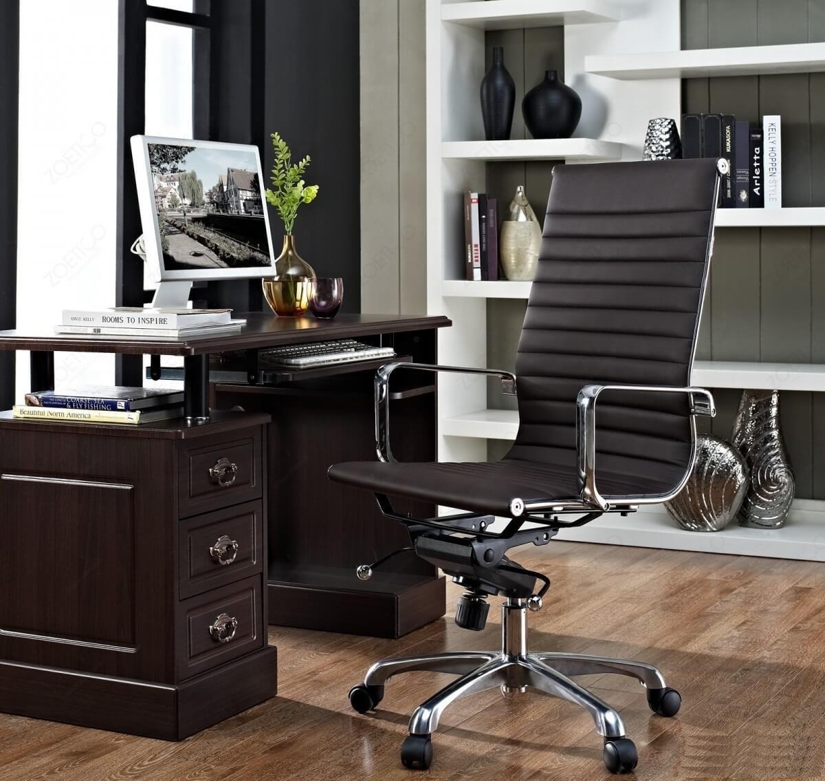 Компьютерное кресло из натуральной кожи