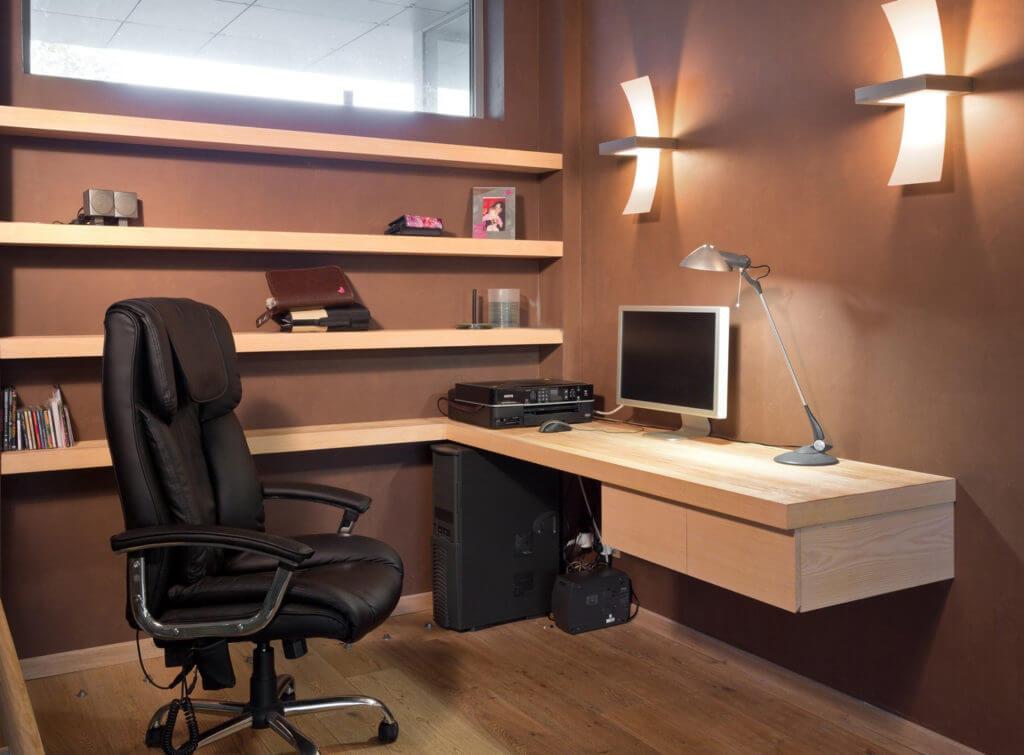 Компьютерное кресло для дома из натуральной кожи