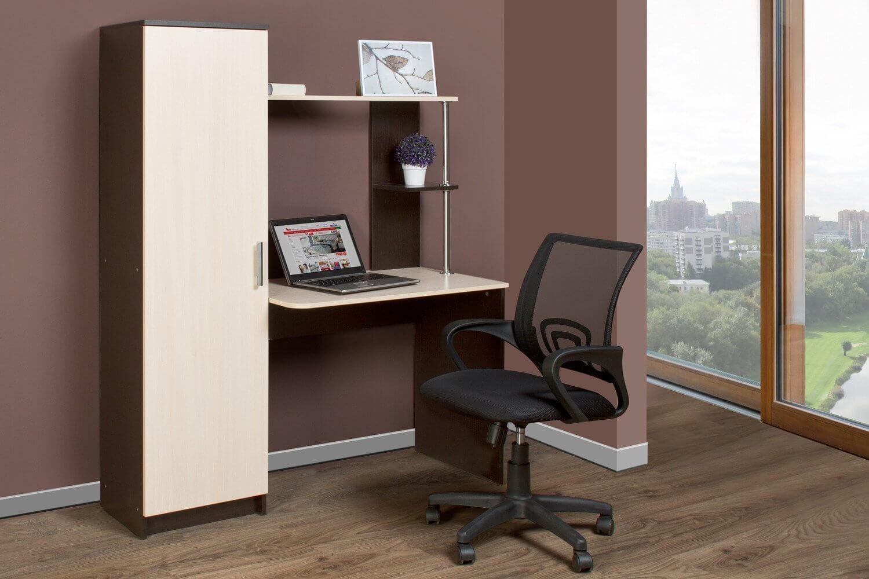 Фото компьютерного стола с пеналом