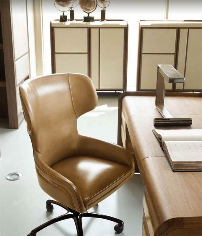 Кожаное компьютерное кресло