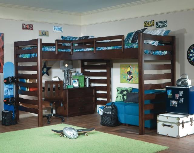 угловая кровать чердак для двоих детей
