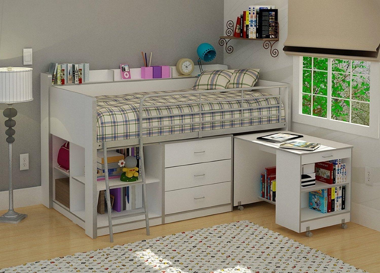 низкая кровать чердак