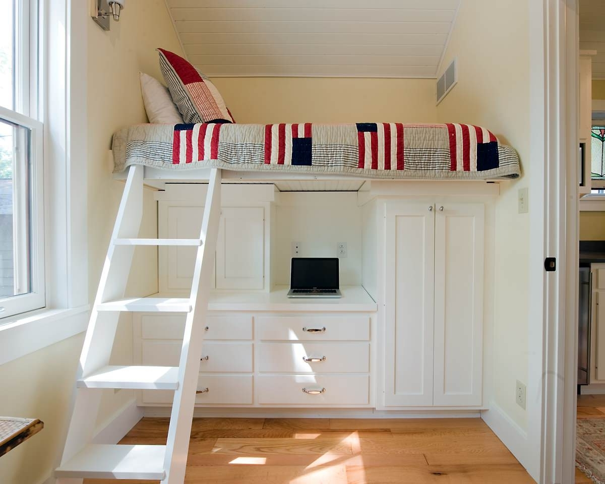 Bunk Bed With Desk Underneath For Your Kids39 Compact Room inside 89 Terrific Bed With Bed Underneath