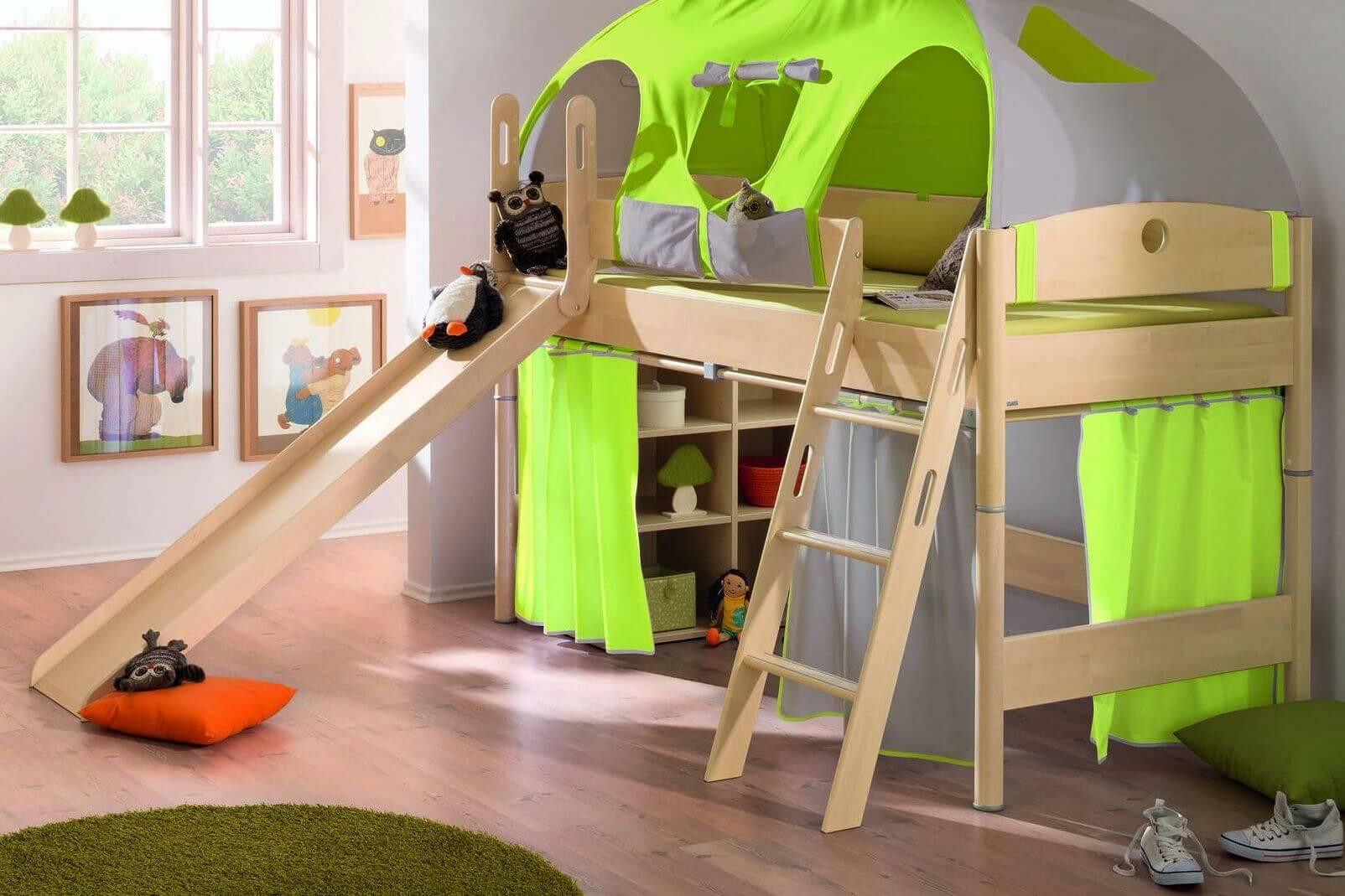 детская кровать с игровой зоной