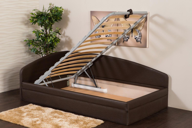 односпальная кровать с ящиком для хранения белья