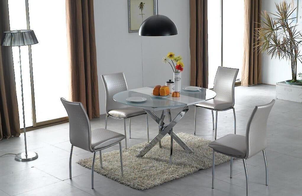 Круглый кухонный стеклянный стол