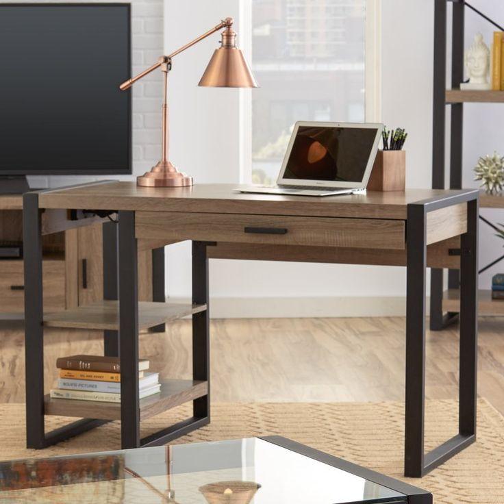 Металлический компьютерный стол с выдвижным ящиком