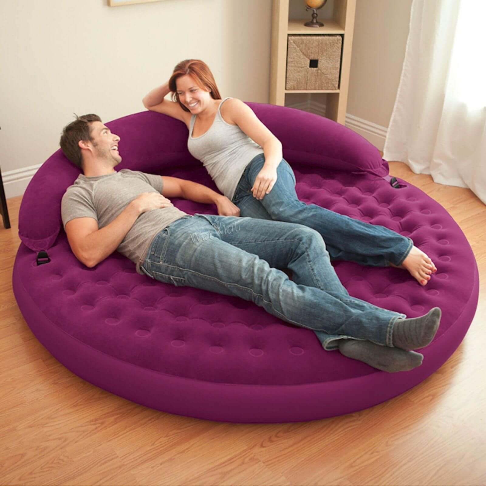 круглая надувная кровать