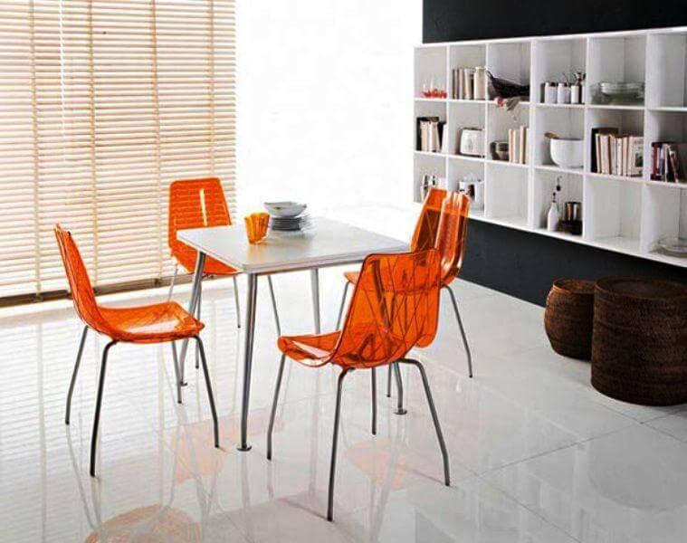 кухонные стулья из прозрачного пластика