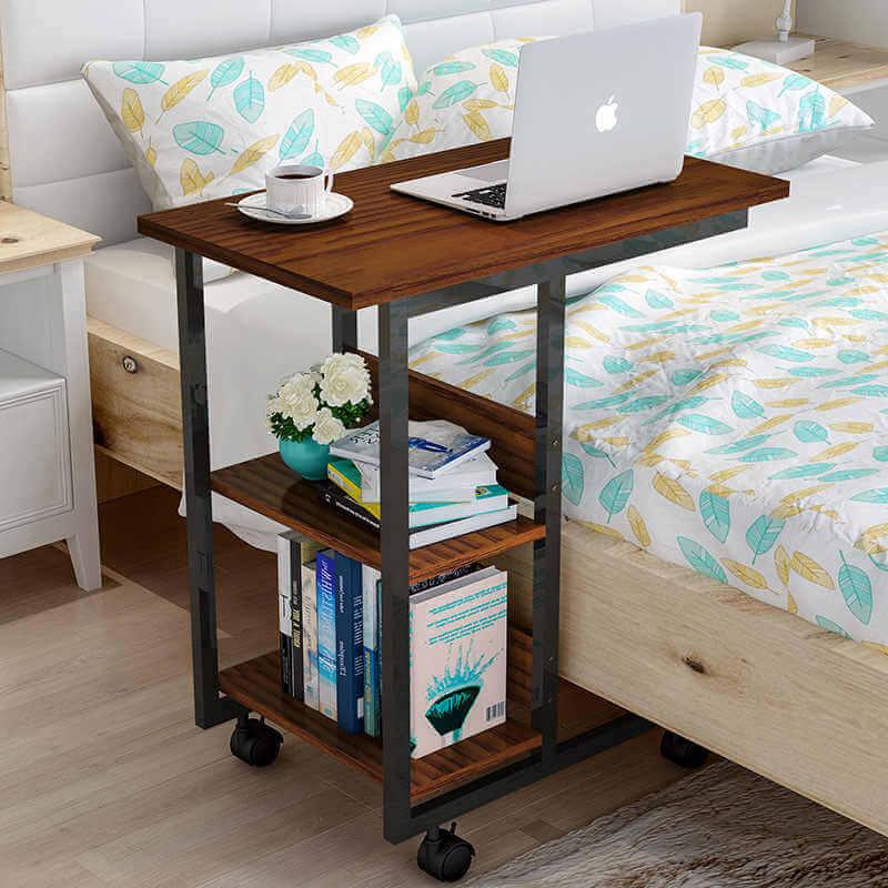 Прикроватный стол для ноутбука с полками