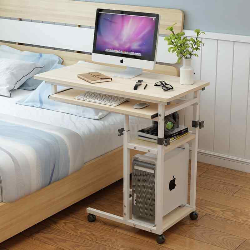 Фото прикроватного стола для ноутбука с полками