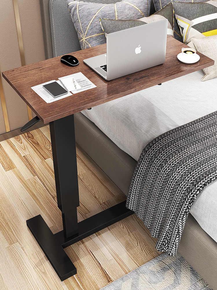 Прикроватный стол для ноутбука с деревянной столешницей