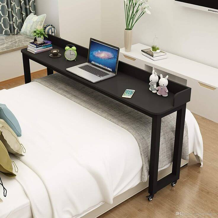 Прикроватный стол для ноутбука на колесиках