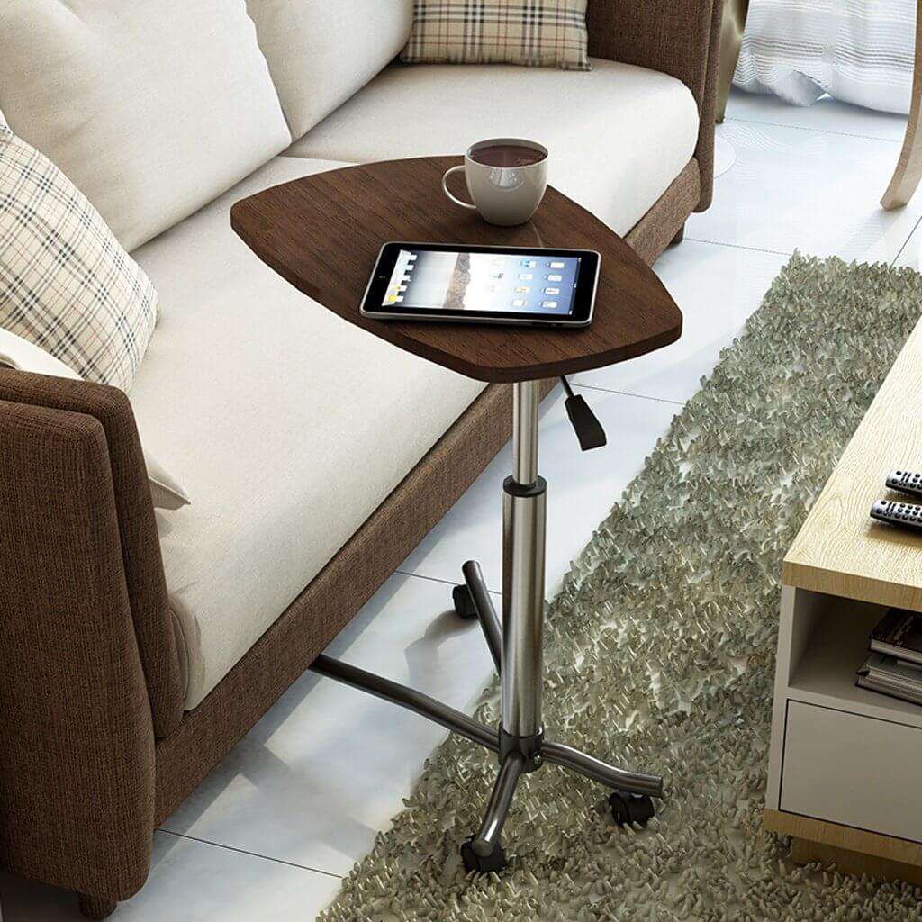 Фото прикроватных столов для ноутбука с деревянной столешницей