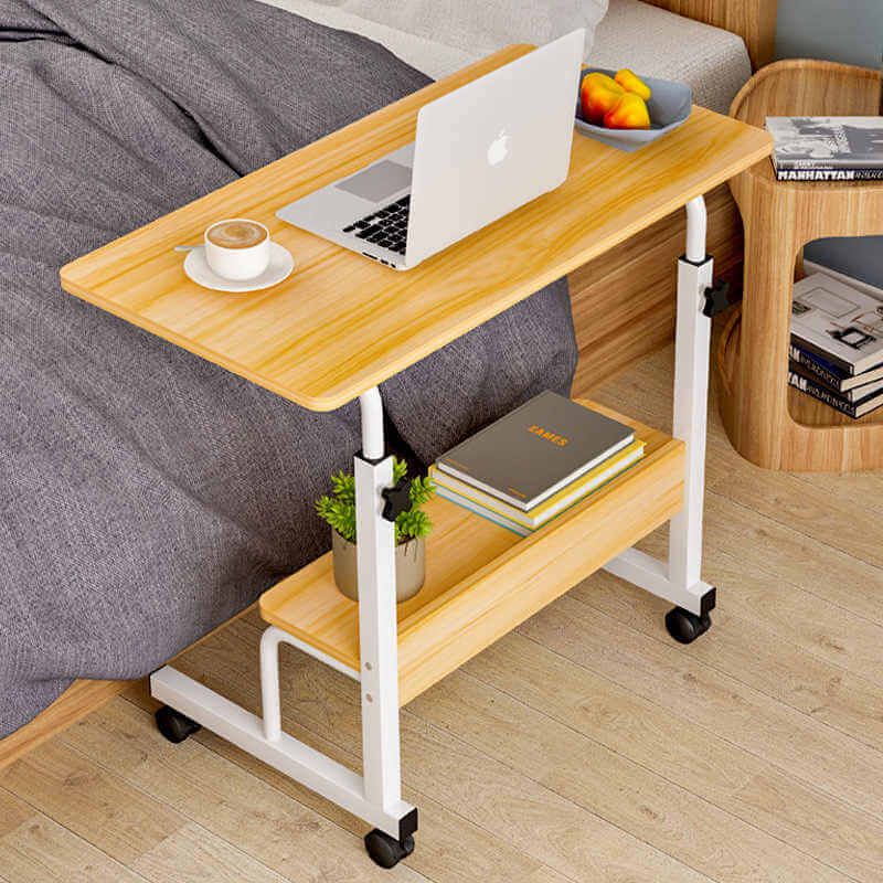 Фото прикроватного стола для ноутбука на колесиках