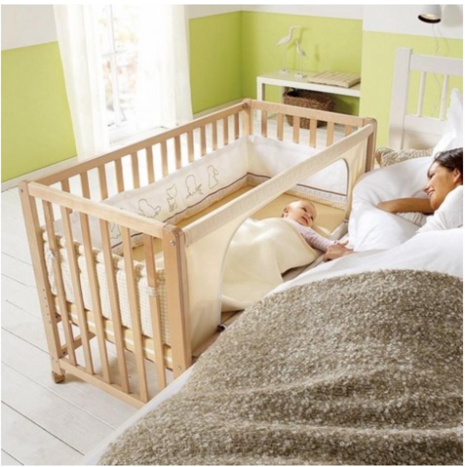 приставная кроватка для младенца