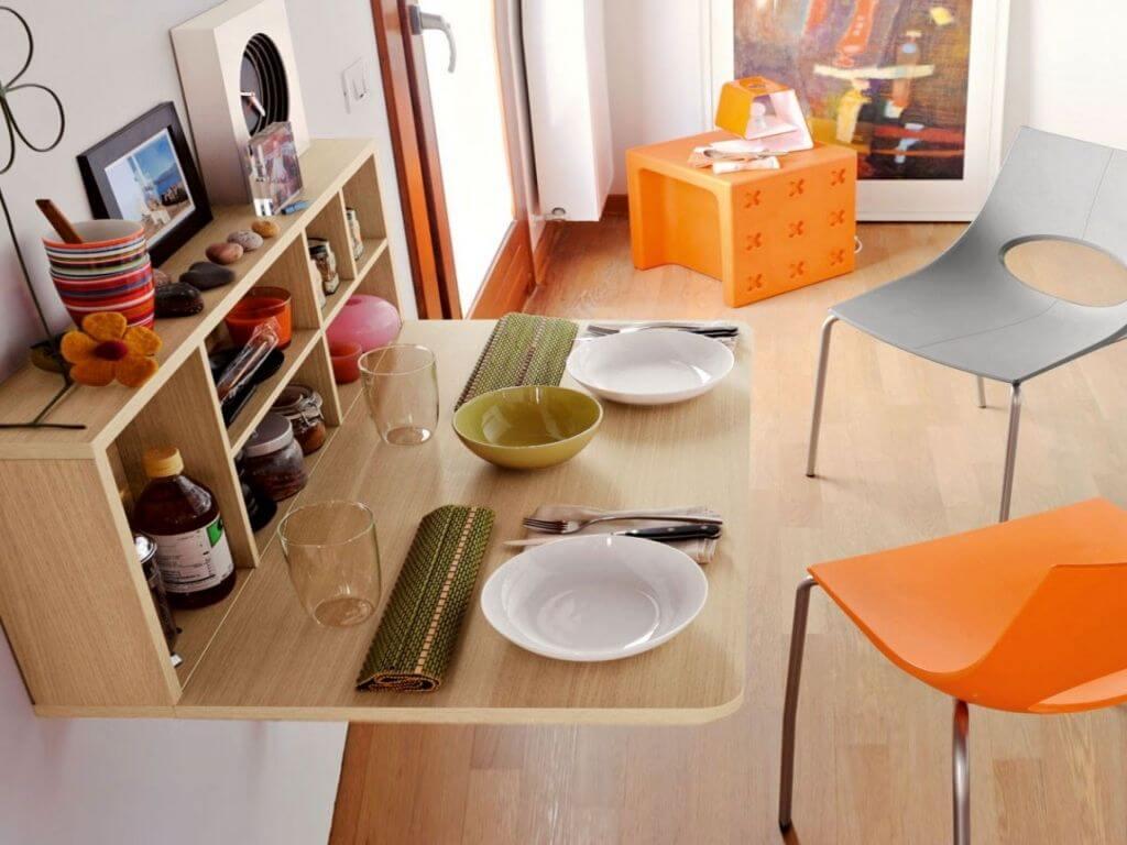 Фото пристенного кухонного стола