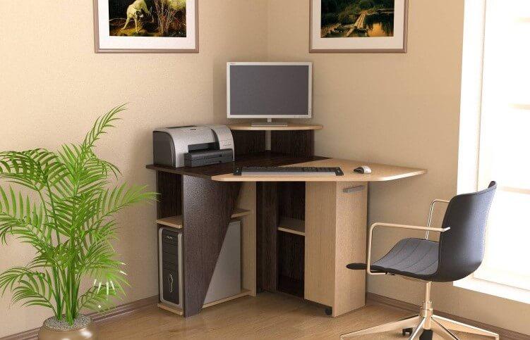 Раскладной угловой компьютерный стол