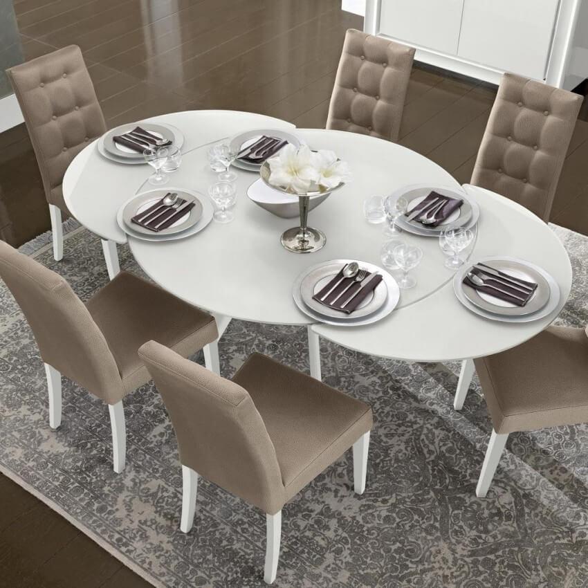 Раскладной стеклянный кухонный стол