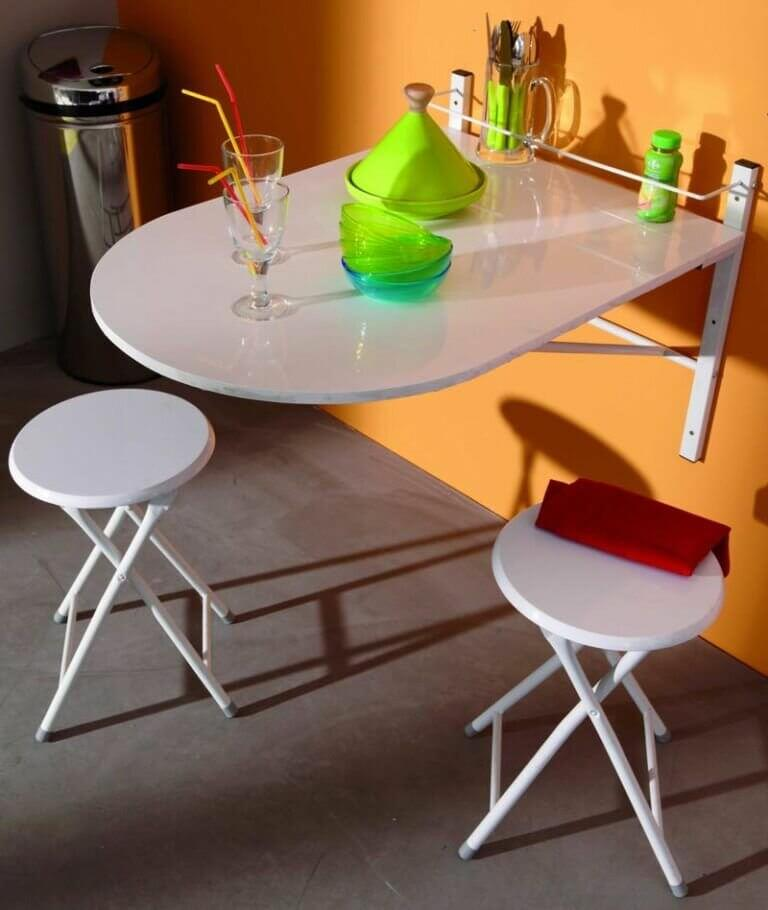Подвесной раскладной стол для маленькой кухни