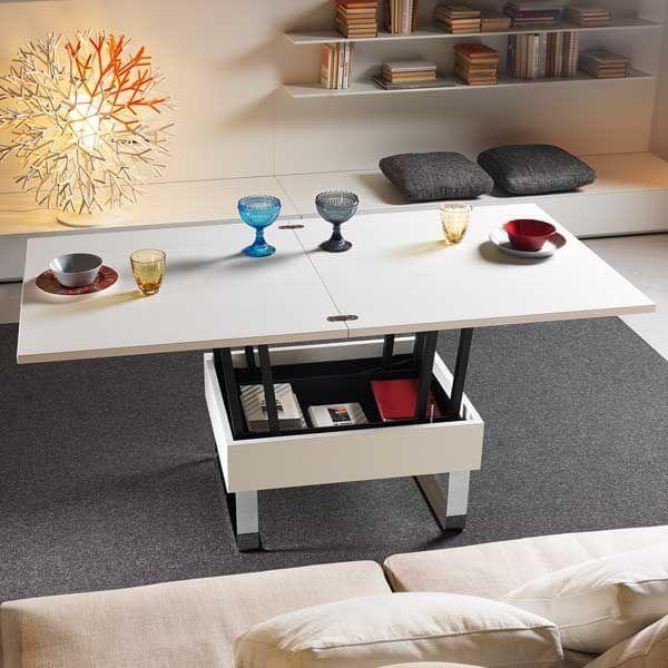 Раскладной журнальный стол книжка белого цвета