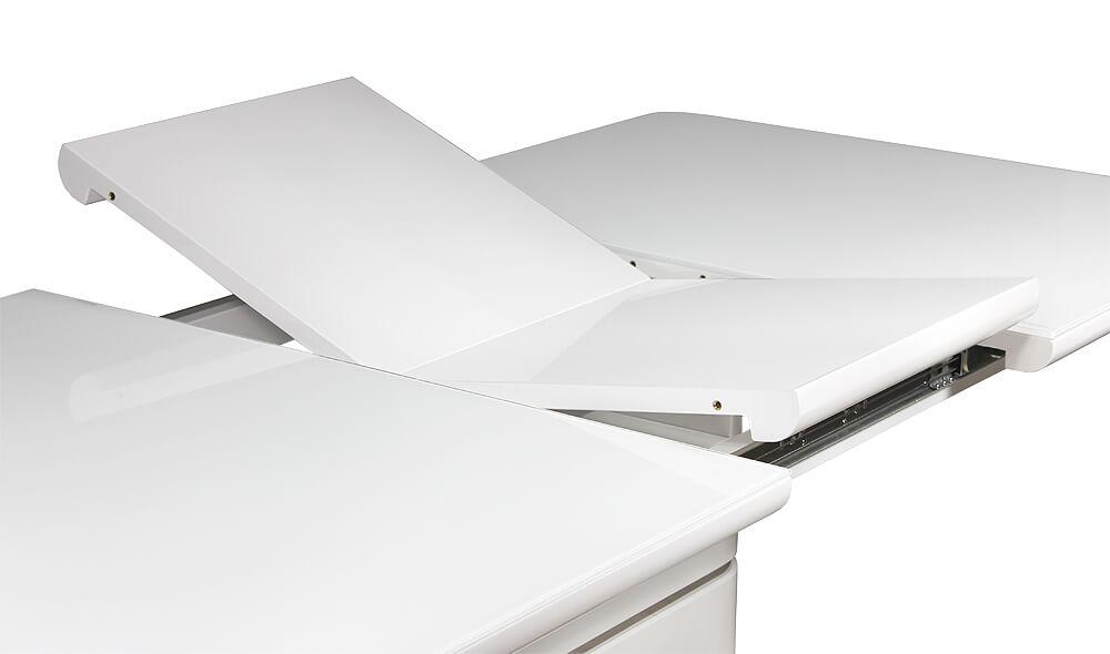 Раздвижной кухонный стол с дополнительной ставкой