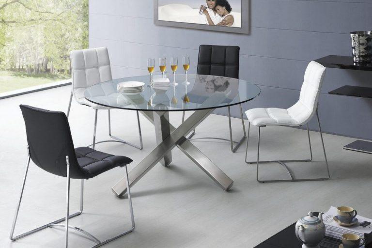 Стеклянный кухонный стол круглой формы