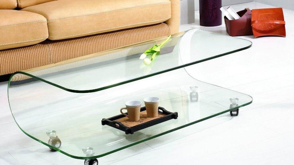 Фото журнальный стол из стекла