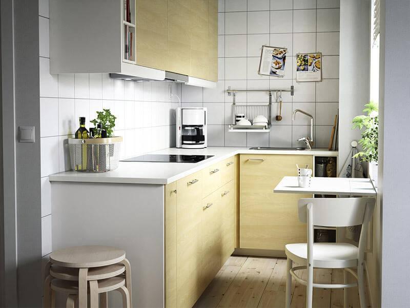 Откидной стол для маленькой кухни