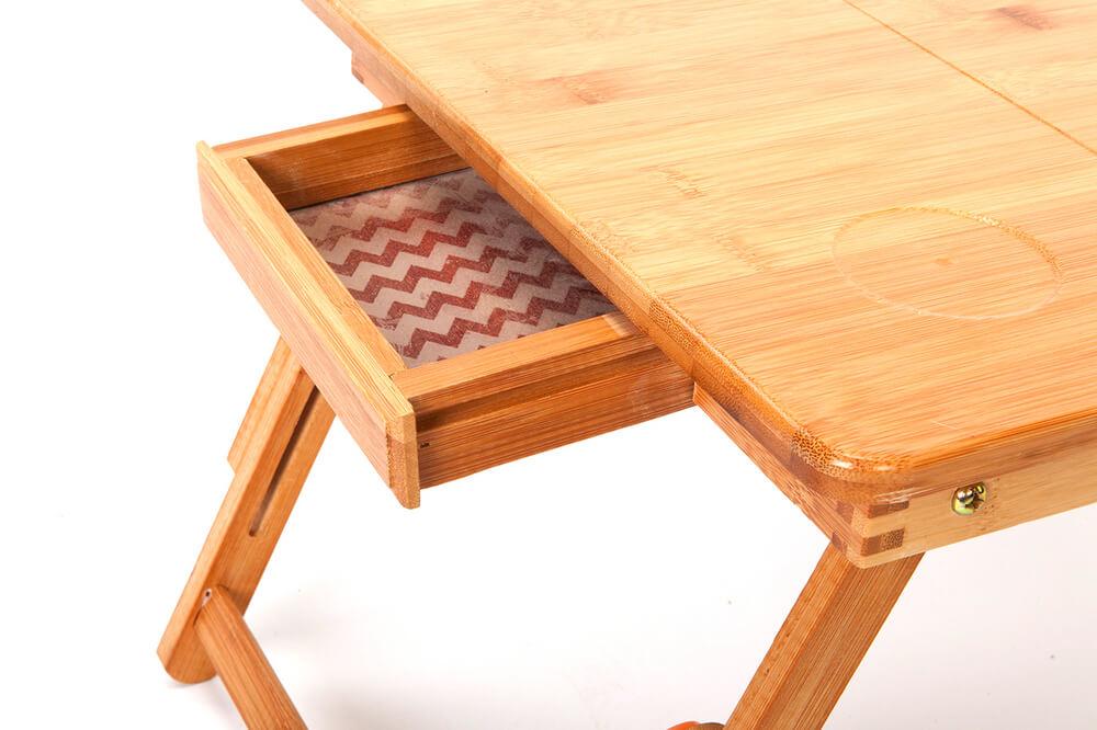 Стол трансформер для ноутбука из натурального дерева