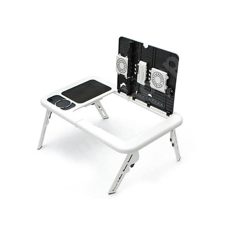 Стол трансформер для ноутбука белого цвета