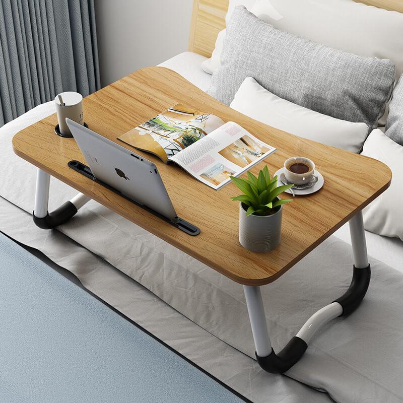 Стол трансформер для ноутбука с столешницей из дерева