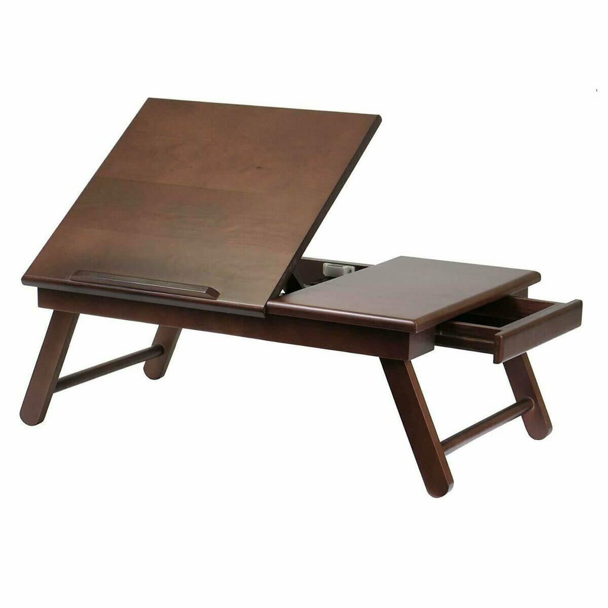 Стол трансформер для ноутбука с выдвижным ящиком