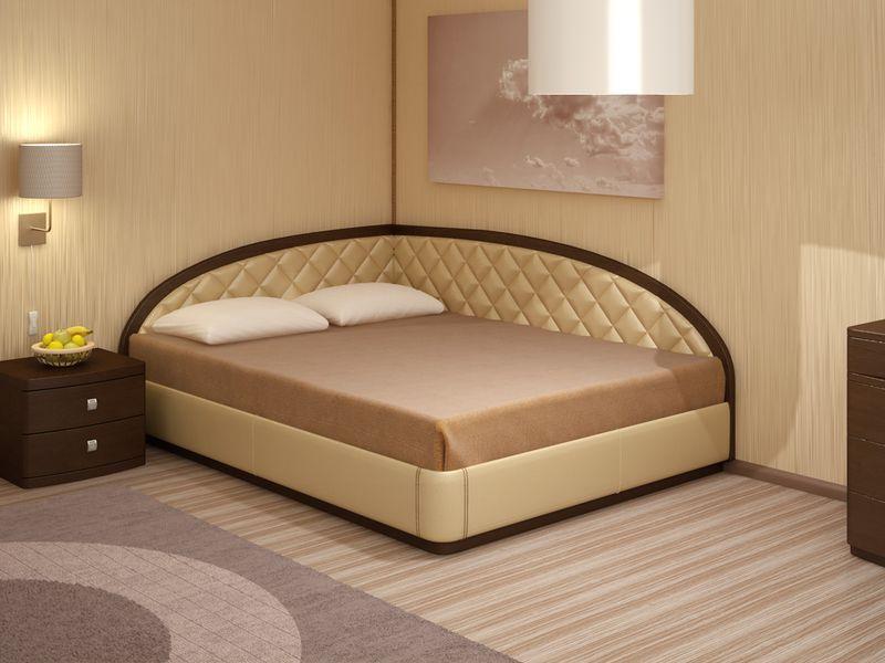кровать с угловой спинкой