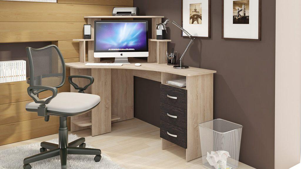 Фото углового компьютерного стола
