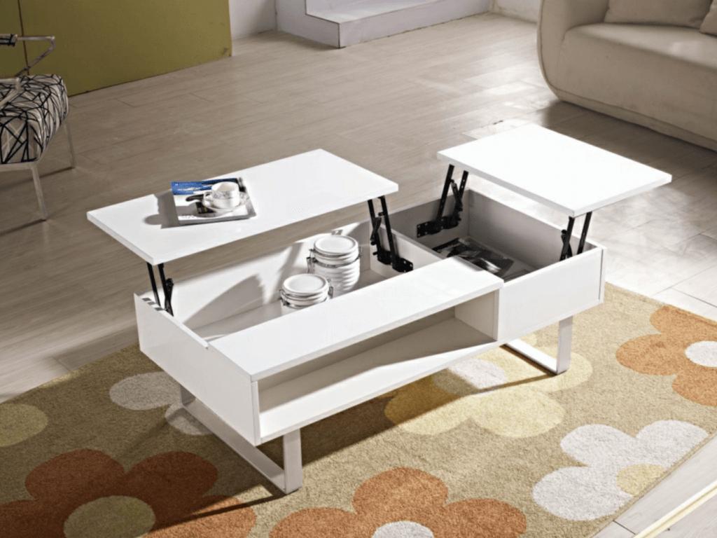 Обеденный журнальный стол белого цвета